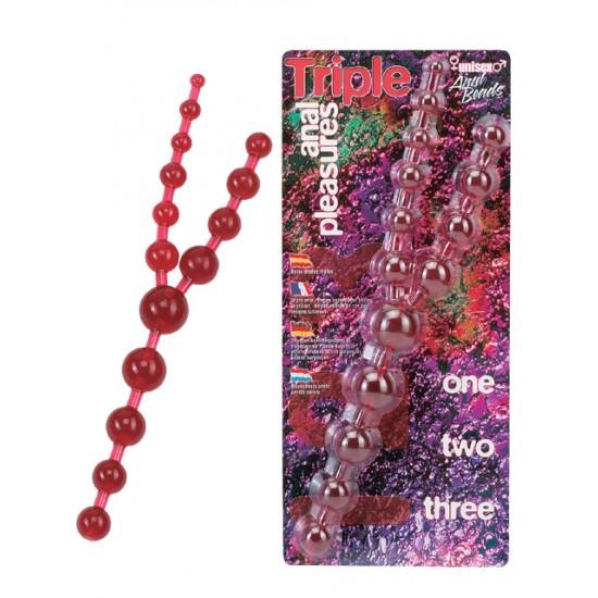 Красные шарики анал тройные Gopaldas