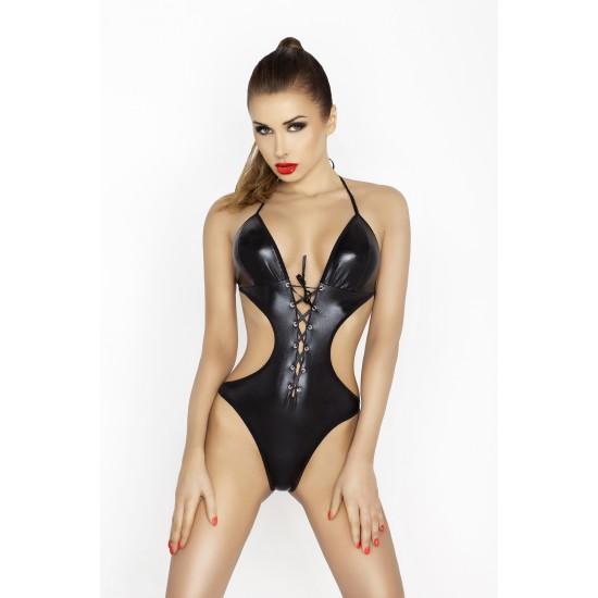 Боди Passion Erotic Line Jean, черное, L/XL