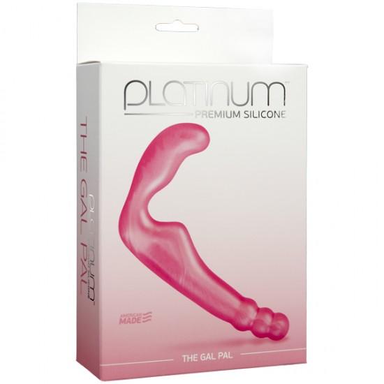 Розовый Безременной страпон, стимулятор точки G без вибрации DJ Doc Johnson