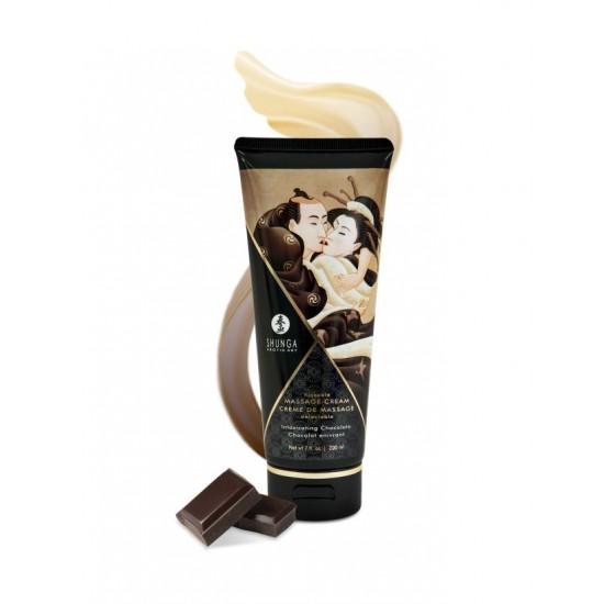 Массажный крем для тела Пьянящий шоколад серии Необыкновенные поцелуи, 200мл SHUNGA