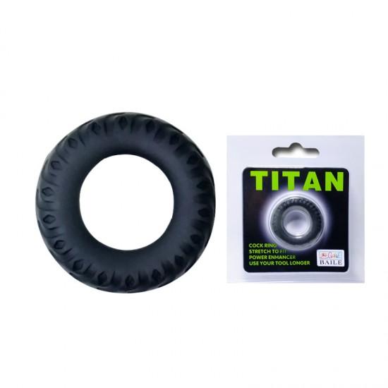 Эрекционное кольцо TITAN имитация автомобильной шины Baile