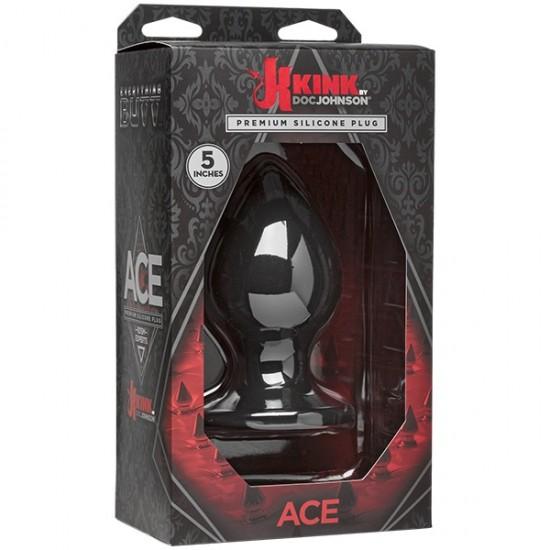 Kink - Ace - Silicone Plug - 5 - Black Анальная пробка DJ Doc Johnson