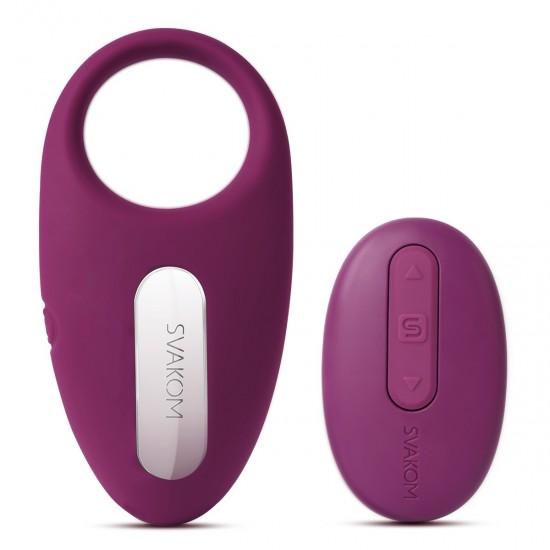 Winni Violet Эрекционное кольцо с вибрацией и пультом SVAKOM, c вибрацией
