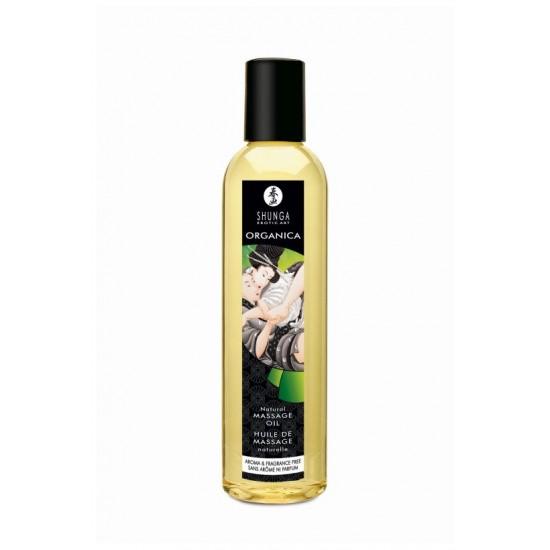 Масло массажное для тела без аромата «Натуральное» серии Органика, 250мл SHUNGA