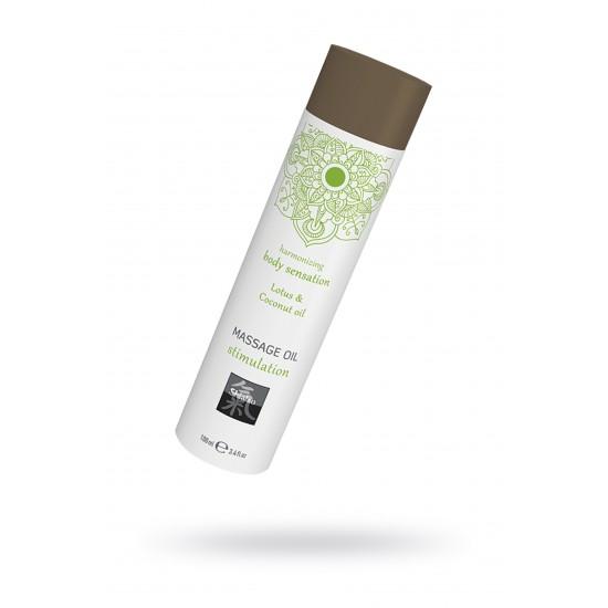Массажное масло stimulation - Лотос и кокосовое масло, 100 мл.
