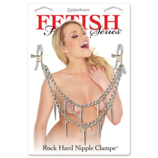 Rock Hard Nipple Clamps Зажимы на соски с металическими подвесками