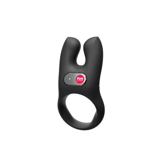 Эрекционное кольцо с вибрацией NOS, черное