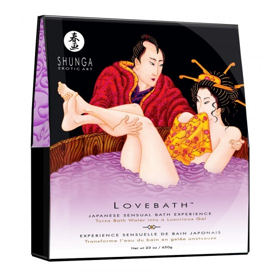 Порошок для принятия ванны LOVEBATH Чувственный лотос 650 гр