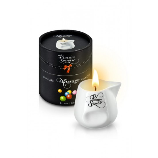 MASSAGE CANDLE BUBBLE GUM 80ML Свеча с массажным маслом Фруктовая жевачка 80 мл