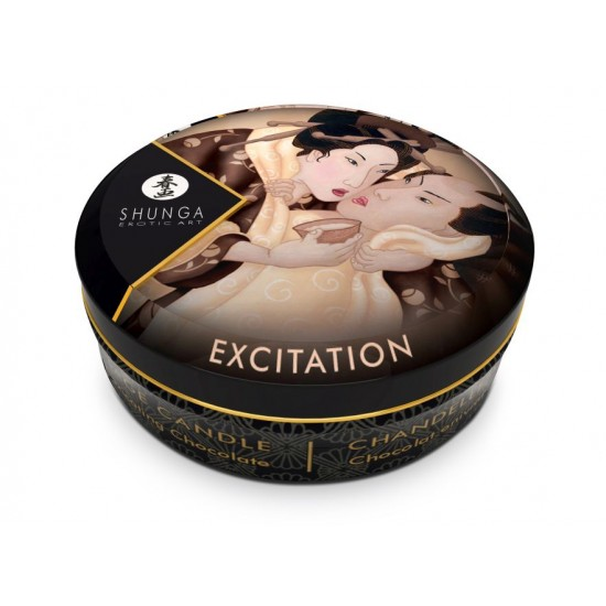 Массажное арома масло в виде свечи, excitation Chocolate мини 30мл.Шоколад