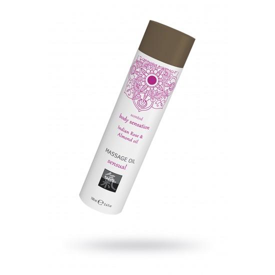 Массажное масло sensual - Индийская Роза и Масло миндаля, 100 мл.