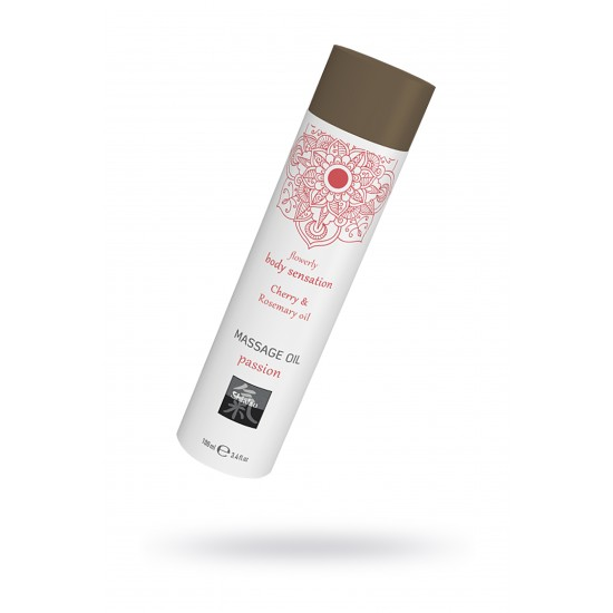 Массажное масло passion - Вишня и масло розмарина, 100 мл.