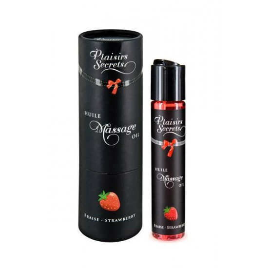 MASSAGE OIL STRAWBERRY 59ML Массажное масло Земляника 59 мл