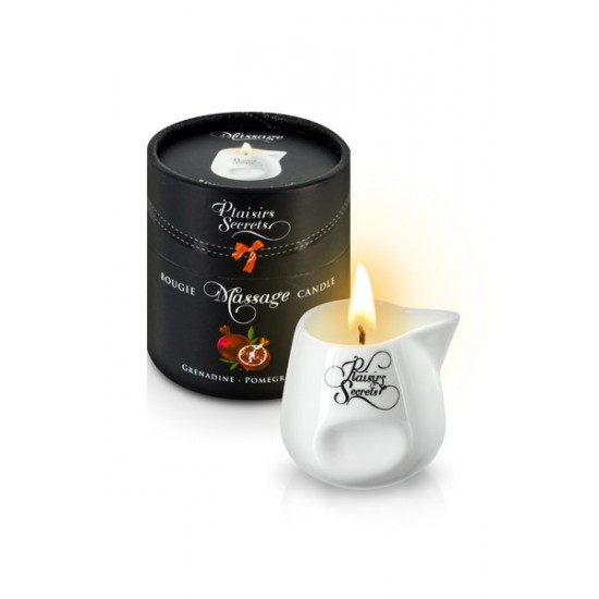 MASSAGE CANDLE POMEGRANATE 80ML Свеча с массажным маслом Спелый гранат 80 мл
