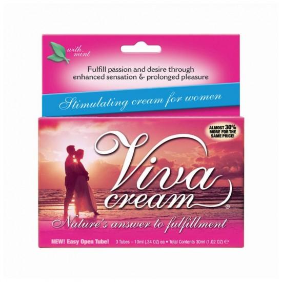 30мл (3 тюбика) Крем VivaCream стимулирующий для женщин